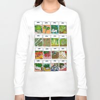 vegetable Long Sleeve T-shirts featuring Vegetable Seeds by La Maison du Lapino