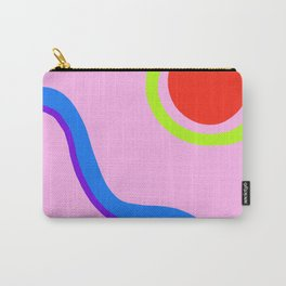 Composition 1 - Pink with Red Sun and River Carry-All Pouch