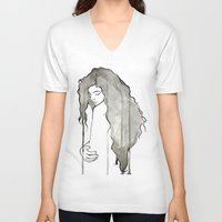 royal V-neck T-shirts featuring Royal by Adrienne Reisman