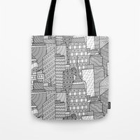 skyline Tote Bags featuring Skyline  by  Steve Wade ( Swade)
