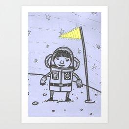 Lady Astronaut Art Print