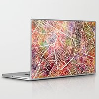 brussels Laptop & iPad Skins featuring Brussels by MapMapMaps.Watercolors