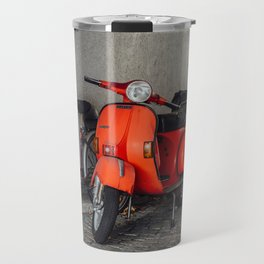 Red scooters in Berlin Travel Mug