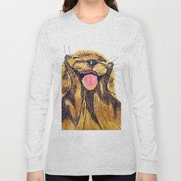Happy otter Long Sleeve T-shirt