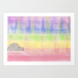 Dancing Lights Art Print