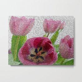 van Gogh Tulips Metal Print