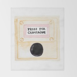 Press For Champagne Throw Blanket