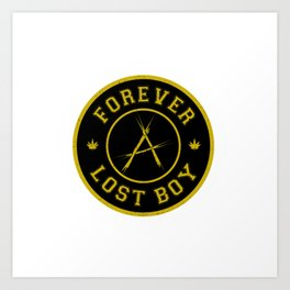 Lost Boy Badge Art Print