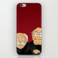 muppets iPhone & iPod Skins featuring Statler & Waldorf - Muppets Collection by Bryan Vogel