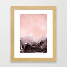 blush & mauve Framed Art Print