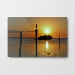 Until the Lights Flickered Out Metal Print