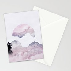 Pink Mountains Stationery Cards