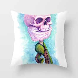 Cotton Candy Cthulhu Throw Pillow