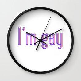 I'M GAY Wall Clock