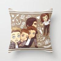 1d Throw Pillows featuring 1D selfie by susumzee