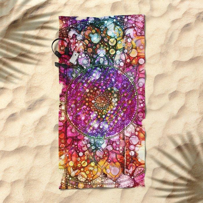 Distressed Mandala  Beach Towel