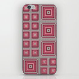 """Grandma's pink blanket"" iPhone Skin"