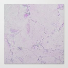 Vintage blush lavender elegant marble Canvas Print