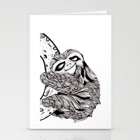 sloth Stationery Cards featuring Sloth  by Animaux Circus