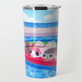Cory cats in the swimming pool Travel Mug