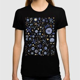 Indigo Flowers at Midnight T-shirt