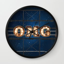 OMG - Hotel - Wall-Art for Hotel-Rooms Wall Clock