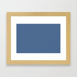 PANTONE 17­-4028 Riverside Framed Art Print