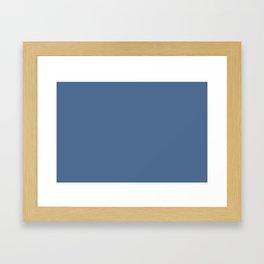 PANTONE 17-4028 Riverside Framed Art Print