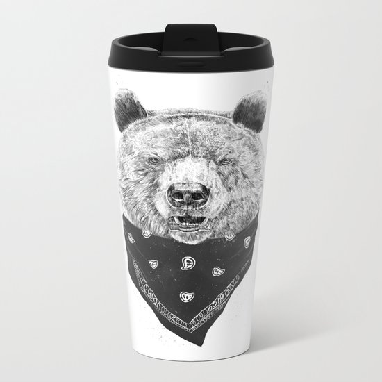 Wild bear Metal Travel Mug