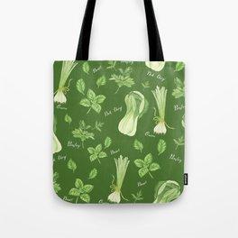 Green vegetables Tote Bag