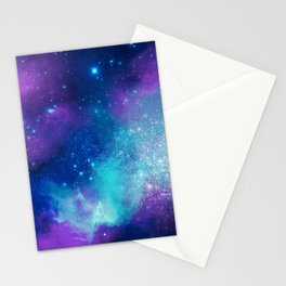 Metatron's Cube on Watercolor Background Stationery Cards