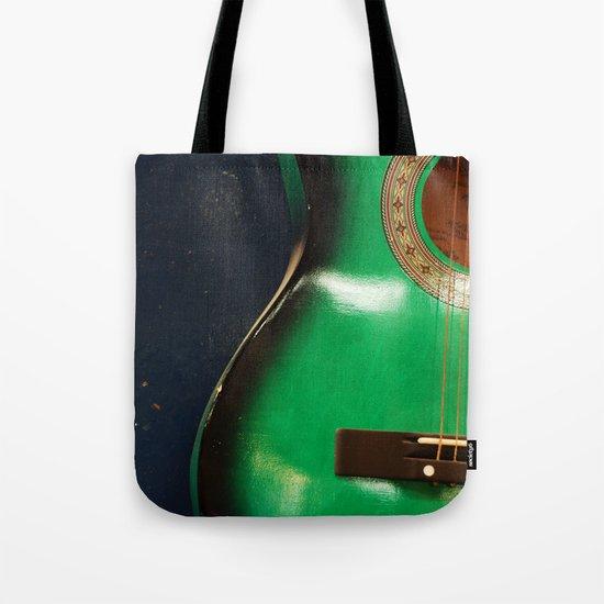 Green guitar Tote Bag