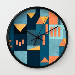 Yellow Klee houses Wall Clock