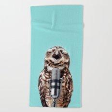 SINGING OWL Beach Towel