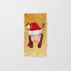 Gold Christmas | Kids Painting | Christmas Spirit Hand & Bath Towel