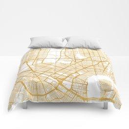 NEW ORLEANS LOUISIANA CITY STREET MAP ART Comforters