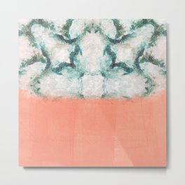 pink blue white Metal Print
