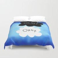 okay Duvet Covers featuring Okay? Okay. by Sierra Christy Art
