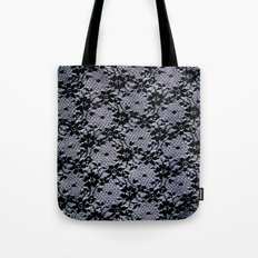 Black Lace Tote Bag