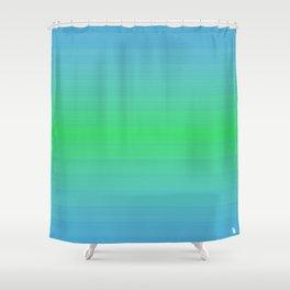 blue green sea  Shower Curtain