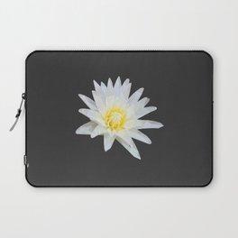 White Lotus Flower Laptop Sleeve