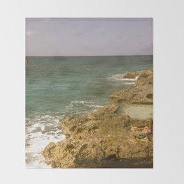 Rocky Shore Throw Blanket
