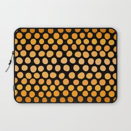Honey Gold and Amber Ombre Dots Laptop Sleeve