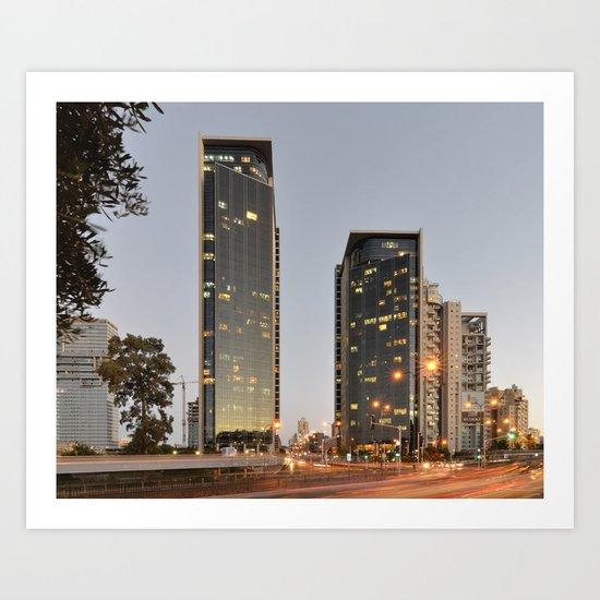 BSR Towers Art Print