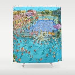 Szechenyi bath Budpest Shower Curtain