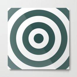 Target (Dark Green & White Pattern) Metal Print