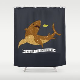 I wonder if it remembers me - The Life Aquatic Shower Curtain
