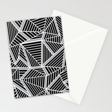 Ab lines Zoom Black and Silver Stationery Cards