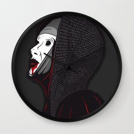 Creepy Nun Wall Clock