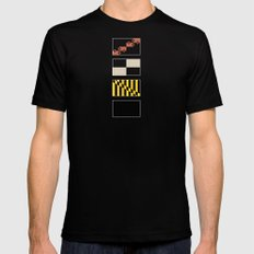 Maryland State Flag Deconstructed Mens Fitted Tee Black SMALL